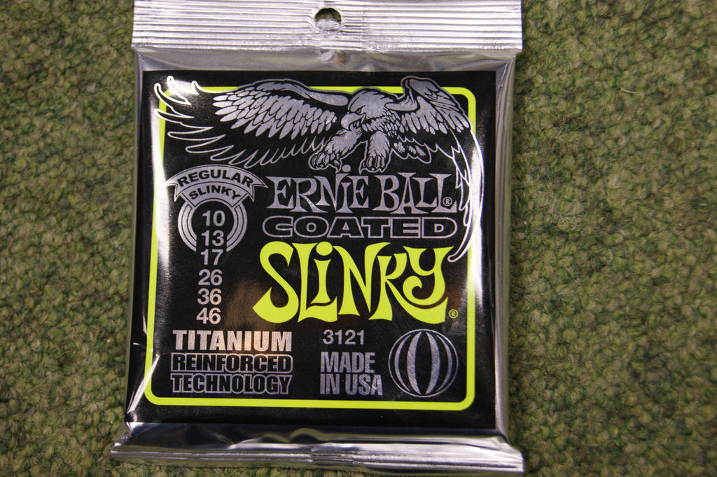 Ernie Ball 3121 Regular Slinky 10-46 coated electric guitar strings titanium reinforced
