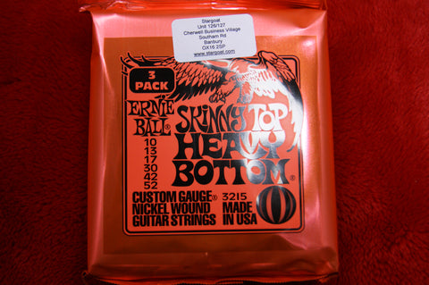 Ernie Ball 2215 Skinny Top Heavy Bottom 10-52 electric guitar strings (3 SETS)