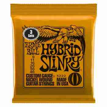 Ernie Ball 2222 Hybrid Slinky 9-46 electric guitar strings (3-SETS)