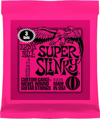 Ernie Ball 2223 Super Slinky 9-42 electric guitar strings (3-SETS)