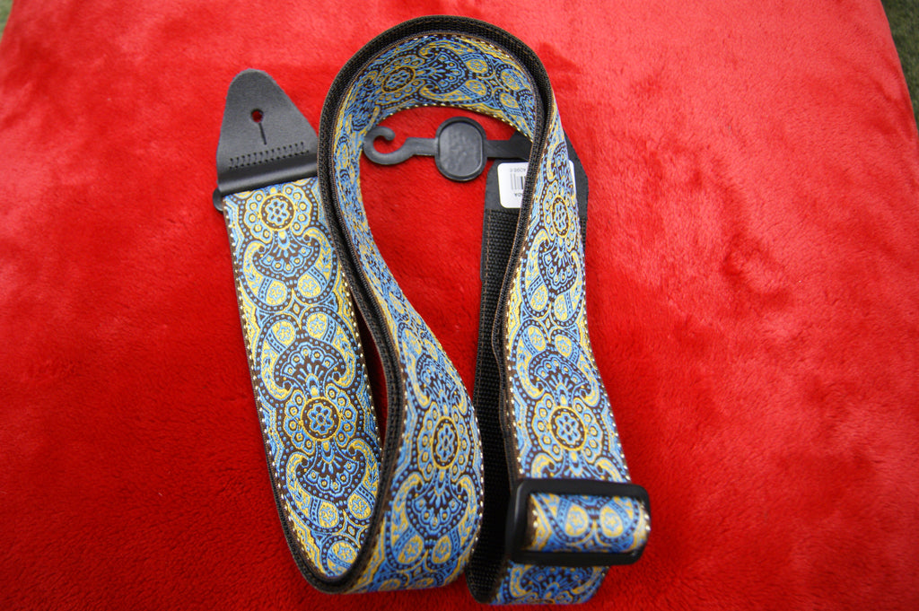 Ernie Ball Jacquard Imperial Paisley woven guitar strap made in Canada