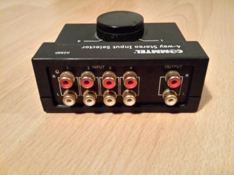 Commtel 4 way stereo input selector (A098P)