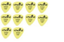 Pack of 10 plectrums .5mm thickness by Chord