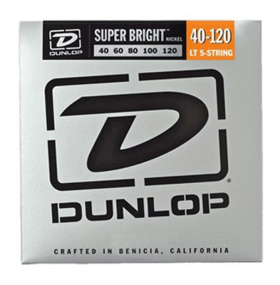 Dunlop DBSBN40120 super bright  nickel 40-120 medium 5 string bass guitar strings