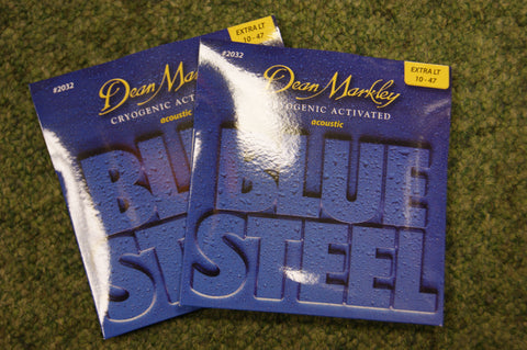 Dean Markley 2032 Blue Steel 10-47 bronze acoustic guitar strings (2 PACKS)