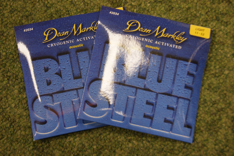 Dean Markley 2034 Blue Steel 11-52 bronze acoustic guitar strings (2 PACKS)