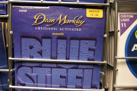 Dean Markley 2038 Blue Steel medium phosphor bronze acoustic strings 13-56