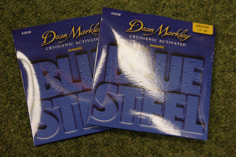 Dean Markley 2038 Blue Steel phosphor bronze acoustic strings 13-56 (2 PACKS)