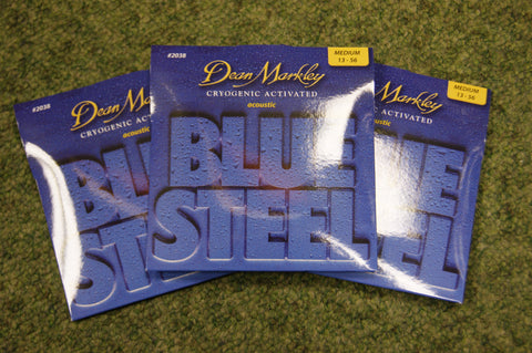 Dean Markley 2038 Blue Steel phosphor bronze acoustic strings 13-56 (3 PACKS)