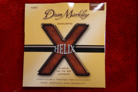 Dean Markley #2082 12-53 custom light helix acoustic guitar strings