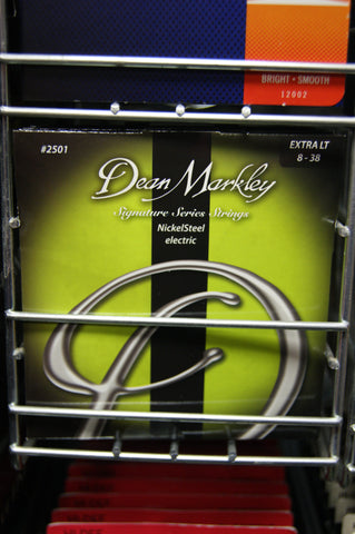 Dean Markley 2501 Signature Series extra light 8-38 electric guitar strings (3 PACKS)