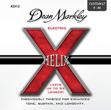 Dean Markley 2512 Helix 9-46 custom light electric guitar strings (2 PACKS)