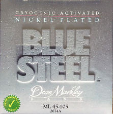 Dean Markley 2674A Blue Steel 45-105 nickel plated bass guitar strings
