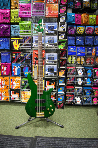 Yamaha RBX760A bass guitar in trans green S/H