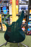 Yamaha RBX760A active bass guitar in Aqua transparent finish S/H