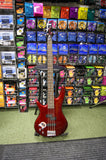 Ibanez GSR200L bass guitar in metallic red finish