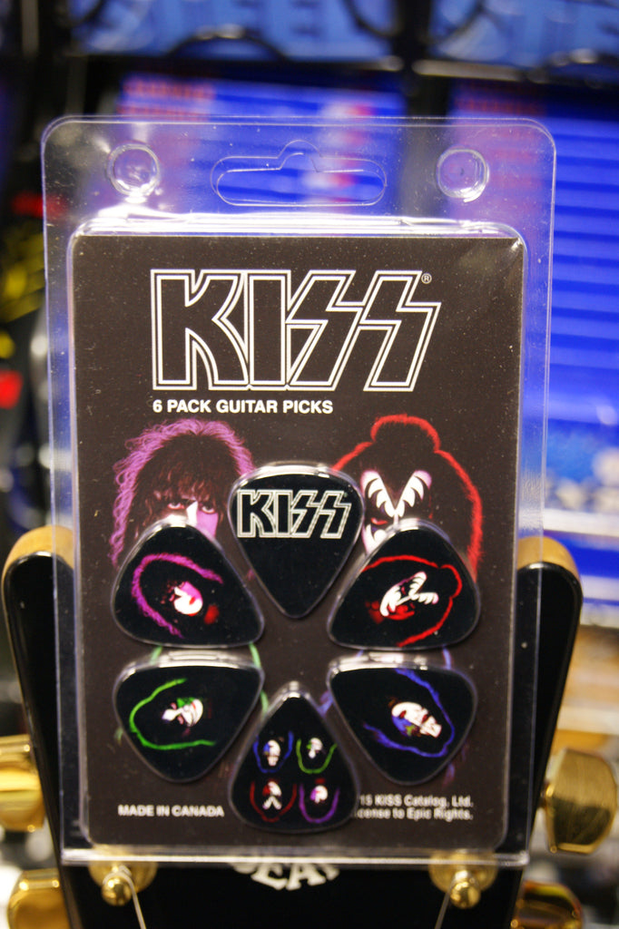 Kiss guitar picks - pack of 6