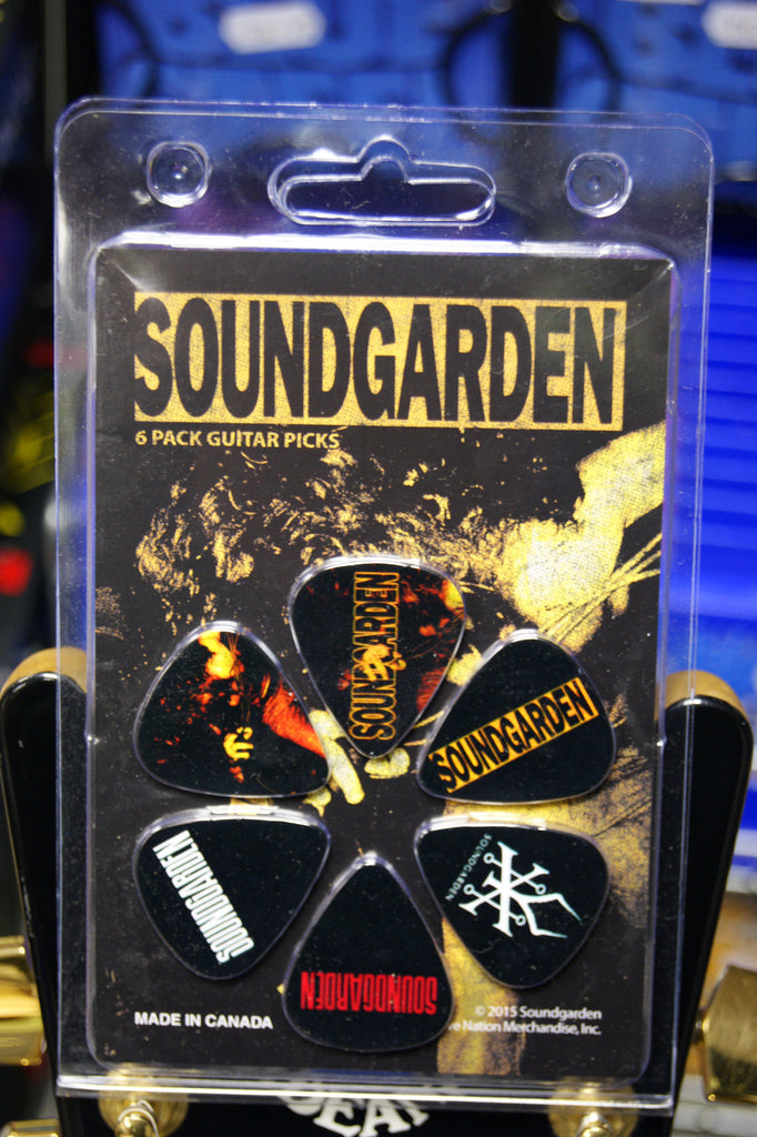 Soundgarden pack of 6 picks by Perri's