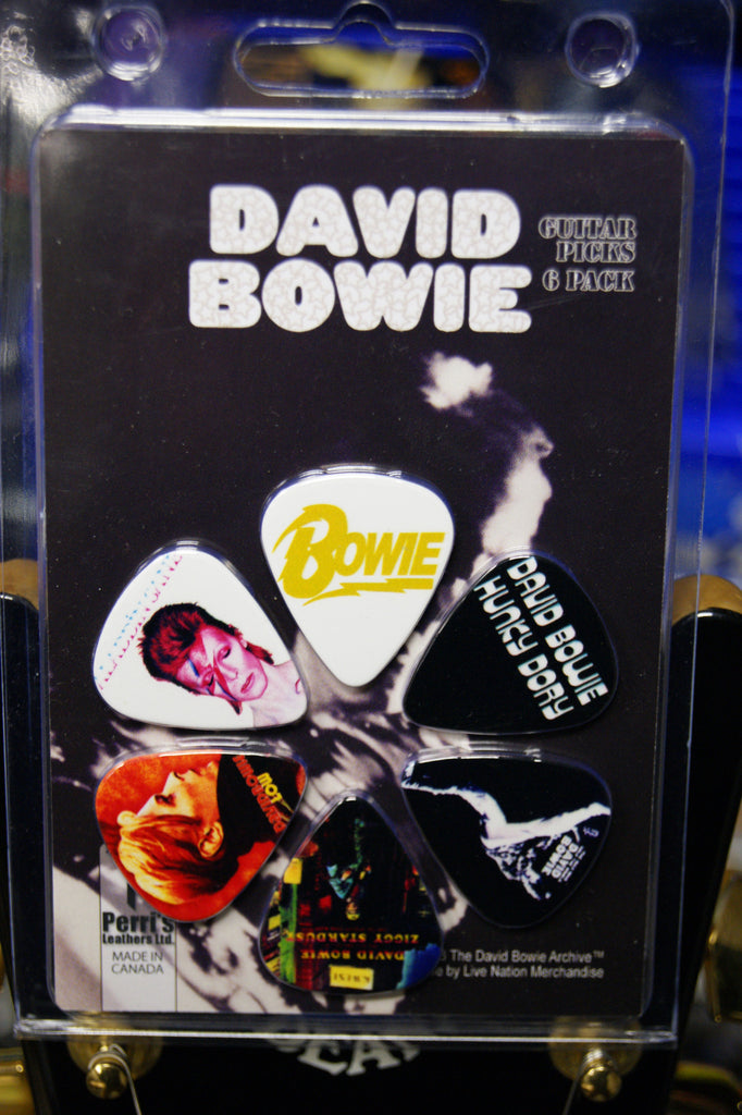 David Bowie guitar picks - pack of 6 plectrums