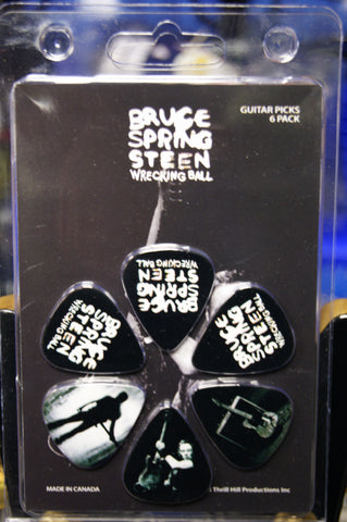 Bruce Springsteen Wrecking Ball guitar picks pack of 6