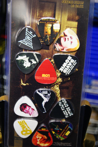 David Bowie 12 guitar pick pack by Perri's