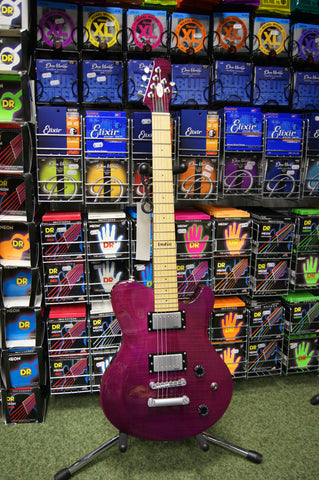 Indie Shape electric guitar in transparent purple Made in Korea S/H