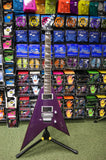 Vintage Reaper electric guitar in metallic purple finish