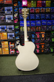 Rally Big Apple semi acoustic guitar in ivory white