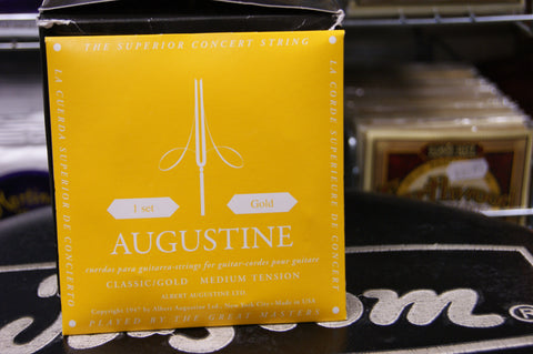 Augustine Gold Label medium tension classical guitar strings