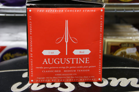 Augustine classical guitar strings medium tension red pack