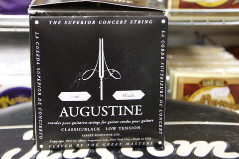 Augustine classical guitar strings low tension black (2 PACKS)