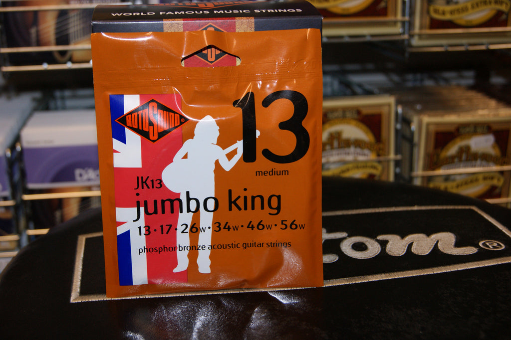 Rotosound JK13 medium acoustic guitar strings 13-56 phosphor bronze