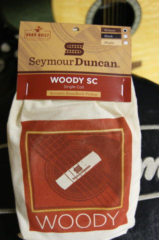 Seymour Duncan Woody SC acoustic guitar soundhole pickup walnut finish