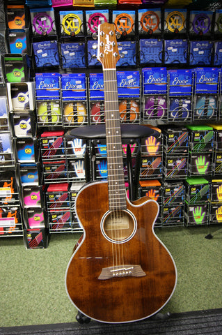 Takamine EF261S electro acoustic guitar with hard case