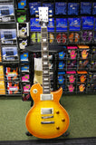 Vintage AV1/HF electric guitar in honeyburst flame finish