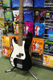 Encore LPK40 bass guitar in black Left Handed