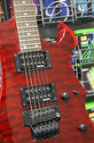 Vintage Metal Axxe Wraith electric guitar in blood red quilt