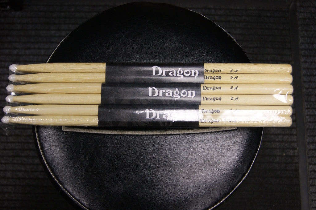 Dragon 5A nylon tipped drum sticks (12 pairs)