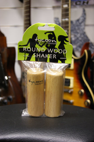 Tycoon TS-40 Round Wood Shakers in Siam Oak (pair)