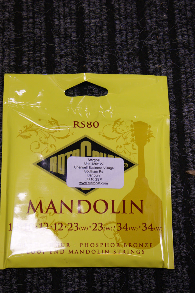 Rotosound RS80 Troubador mandolin strings 10-34
