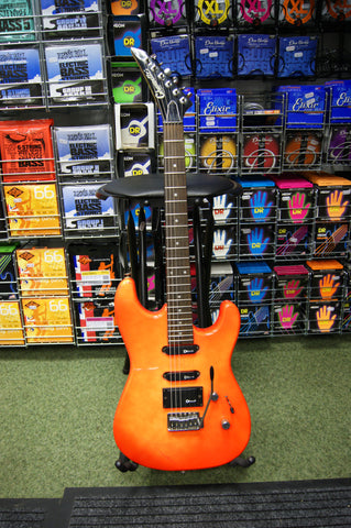 Charvel Charvette electric guitar in dayglo orange S/H