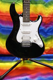 Crafter County H stratocaster style guitar in black Made in Korea