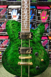 Indie Shape Tribal Custom green electric guitar S/H