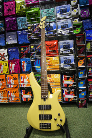 Yamaha RBX374 bass guitar in mustard & black S/H