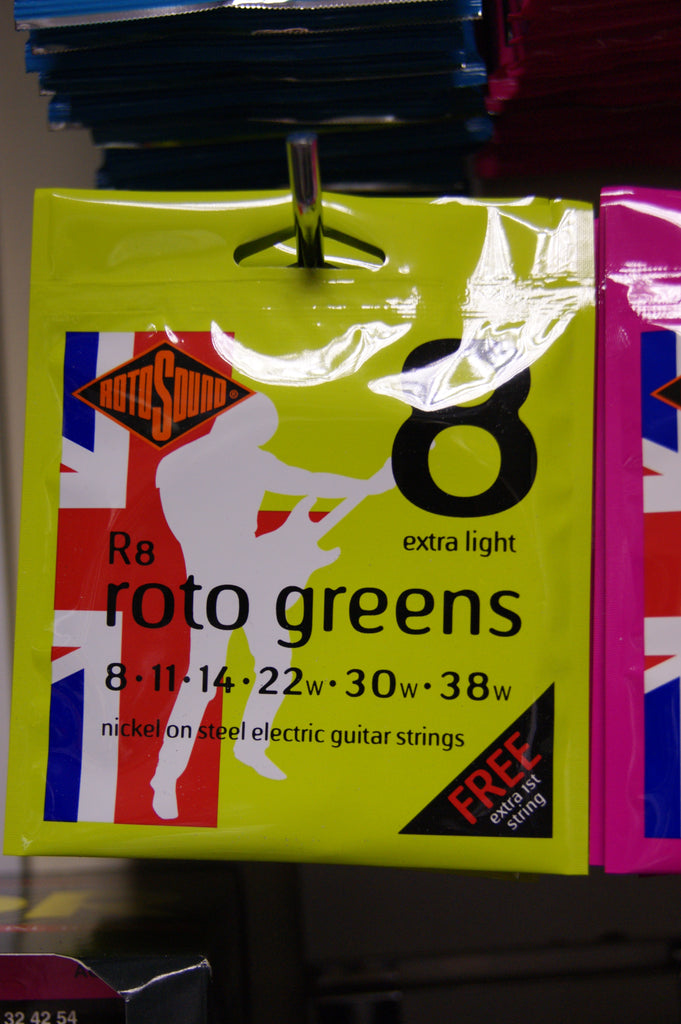 Rotosound R8 extra light electric guitar strings 8-38 (3 PACKS)