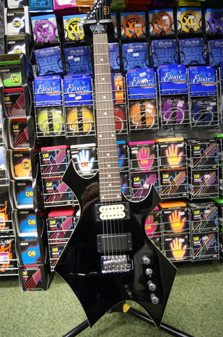 Westone 'Warlock styled' electric guitar in black