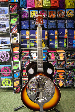 Di Mavery acoustic resonator guitar in vintage sunburst S/H