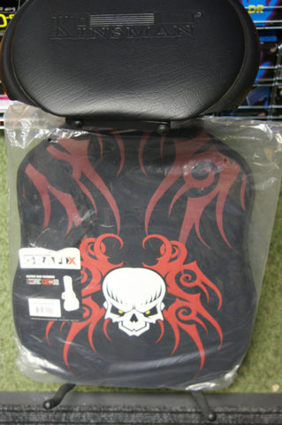 Graffix padded electric guitar bag 'red skull' design