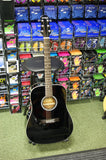 Ashland SD80 (By Crafter) steel acoustic dreadnought guitar in black finish
