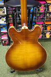 Crafter SEG480TM-VTG-V semi acoustic guitar in vintage sunburst
